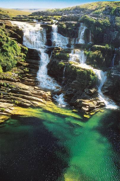 Cachoeira do Velho Chico no rio São Francisco no Parque Nacional da Serra da Canastra
