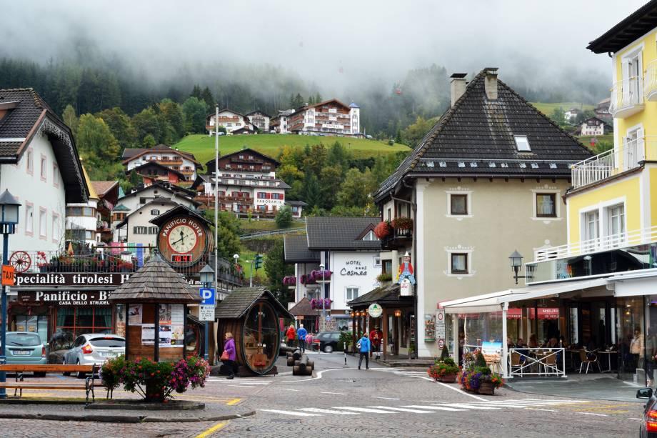 O município de Ortisei faz parte do Val Gardena