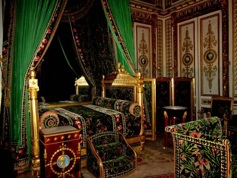 O Palácio de Fontainebleau tem quartos ricamente decorados