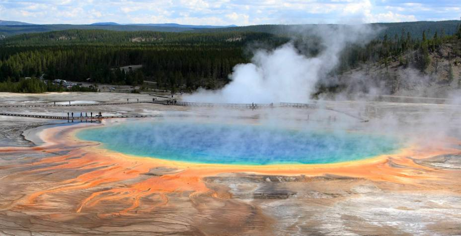 Grande Prismatic Spring, Parque Nacional de Yellowstone