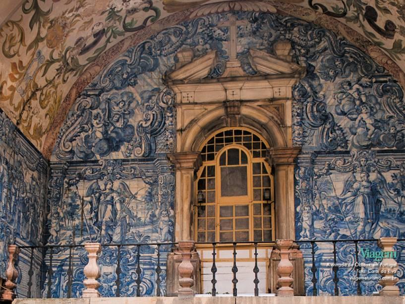 A entrada de Óbidos em Portugal