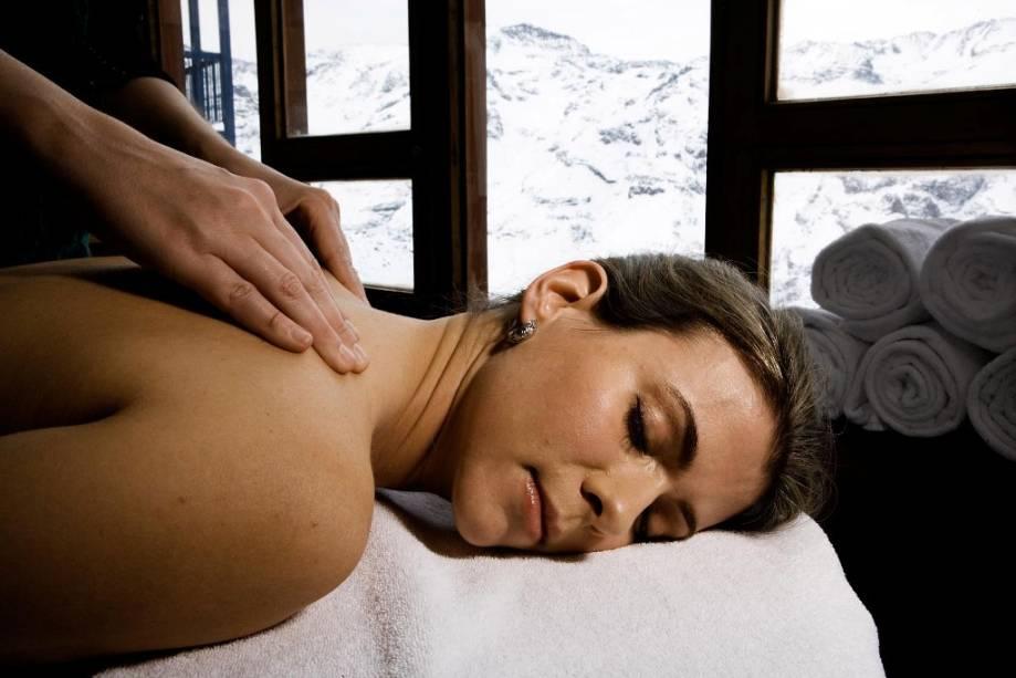 Como qualquer bom balneário, Valle Nevado oferece não só um bom hotel e uma boa estrutura gastronômica, mas também serviços como um spa.