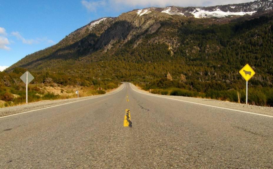 Na estrada 231 que liga Villa La Angostura a Bariloche