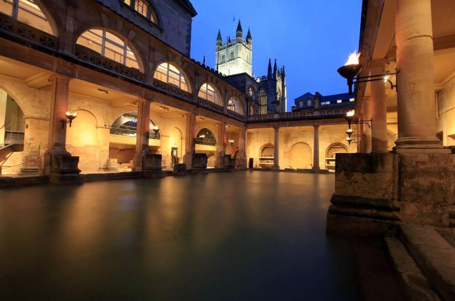 Os Banhos Romanos de Bath são algumas das legiões deixadas na Grã-Bretanha pelas legiões