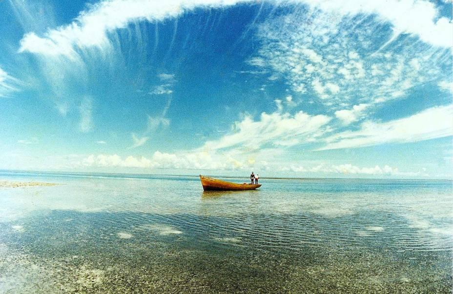 Há uma paisagem para ver em Caravelas, no estado da Bahia, que vale a pena repousar na tela