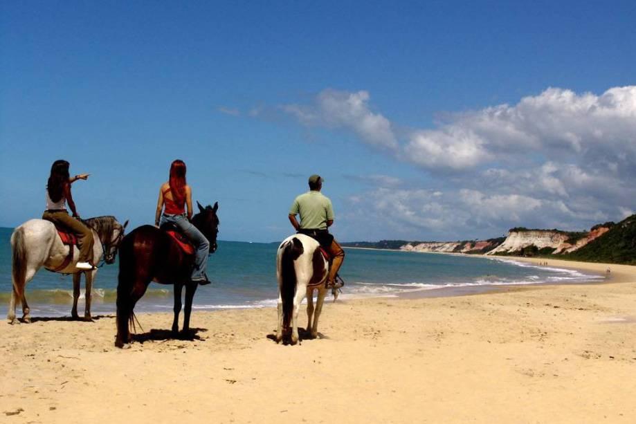 O passeio a cavalo é patrocinado pelo Arraial DAjuda Eco Resort