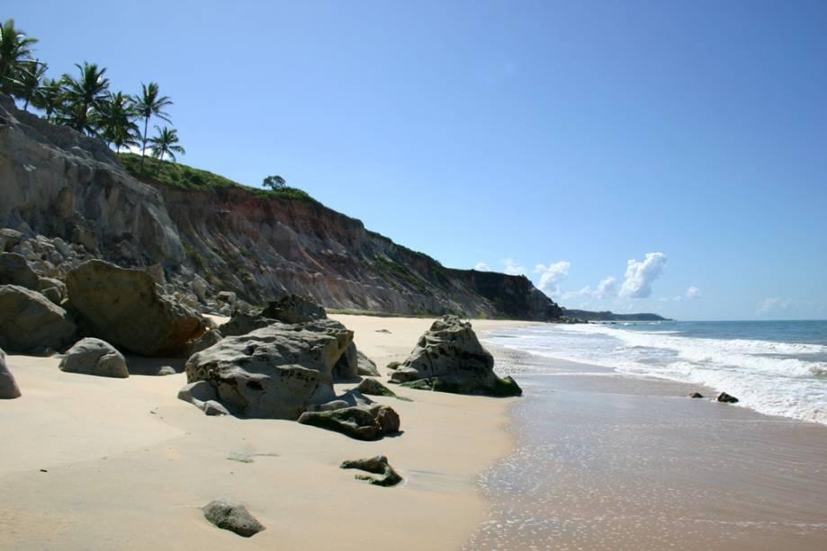Praia do Rio da Barra, divisa entre Trancoso e Arraial d´Ajuda