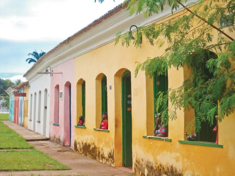 Lojas localizadas no casario histórico da Vila de Arraial dAjuda