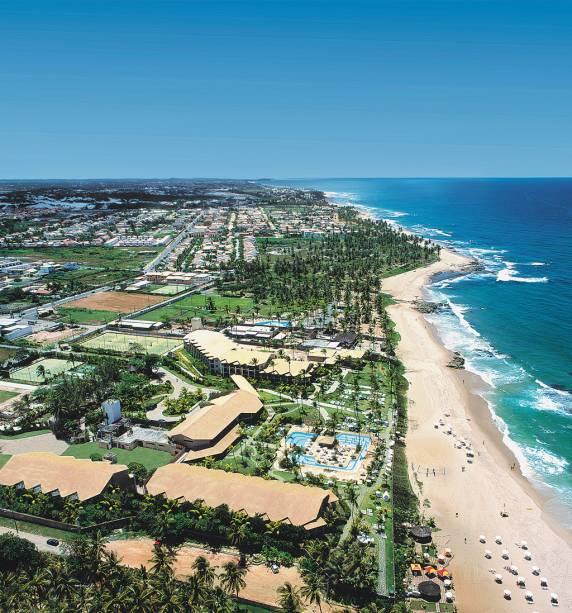 Vista aérea da praia de Itapuã, que inspirou canções de Caetano Veloso e Vinícius de Moraes
