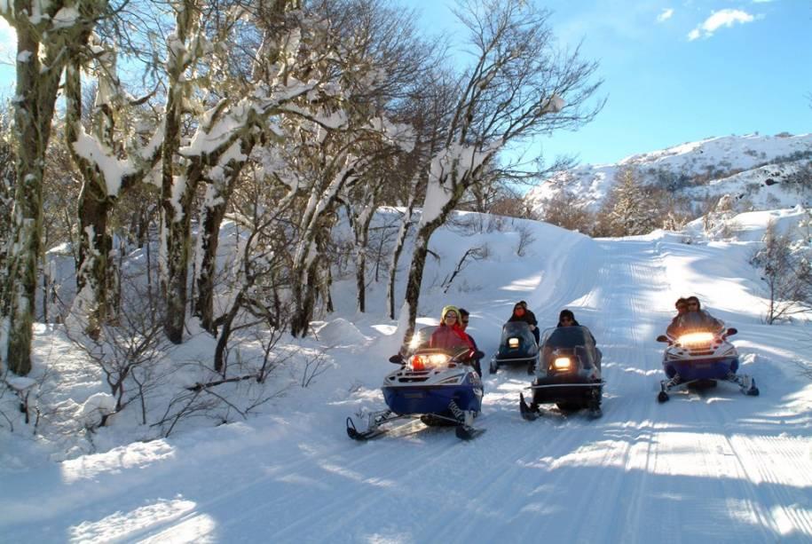 Snowmobiling é uma das atividades de inverno em Chillán