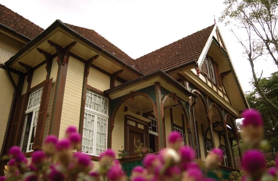 A antiga casa da família Franzen de origem alemã foi construída na década de 1910 apenas com madeira embutida sem pregos
