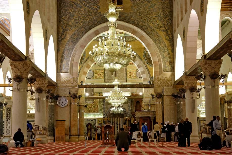 Mesquita de Al-Aqsa na cidade velha de Jerusalém