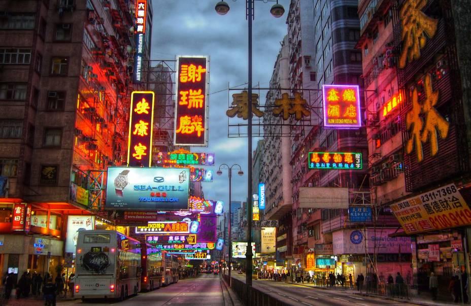 Nathan Road, em Kowloon