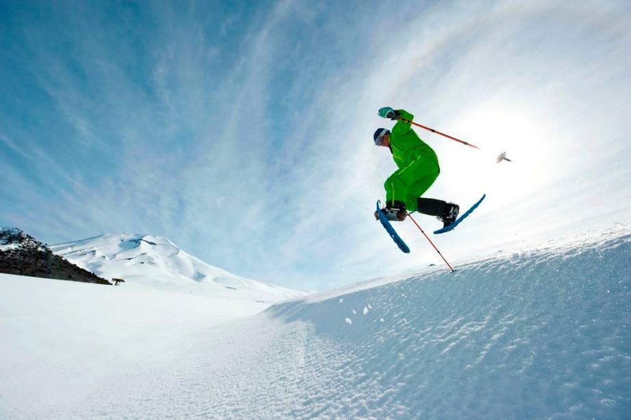 A área de esqui Corralco está localizada no sopé do vulcão Lonquimay
