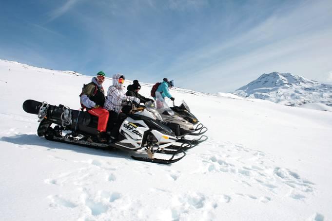Snowmobile em Corralco