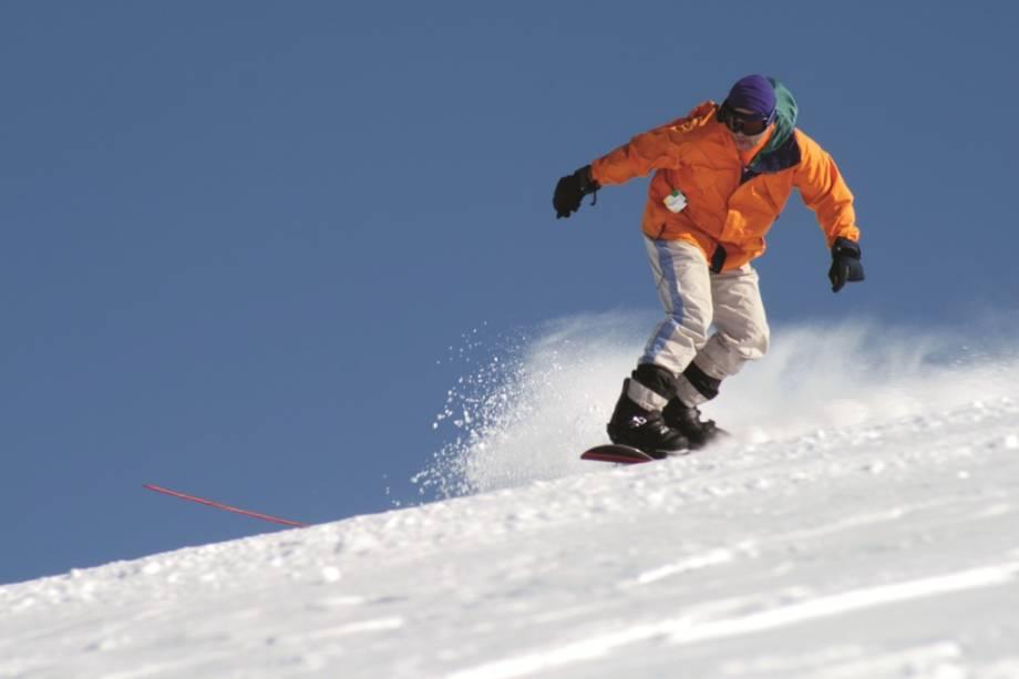 Snowboarding em Corralco, Chile