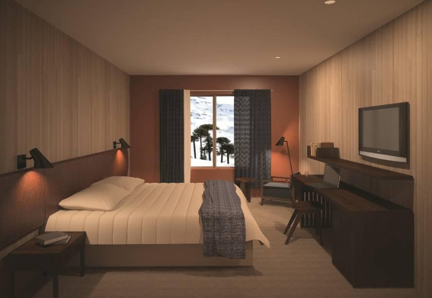 Projeto das suítes do Valle Corralco Hotel & Spa