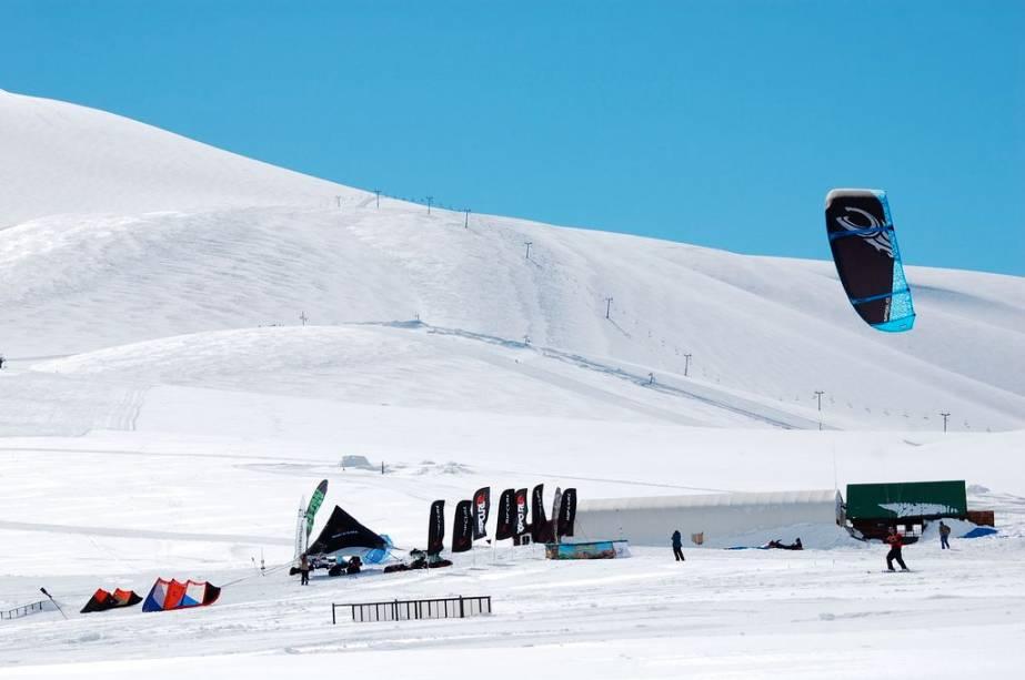 Kite ski em Corralco