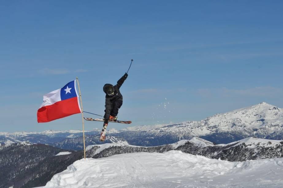 Esquiar em Corralco, no sul do Chile