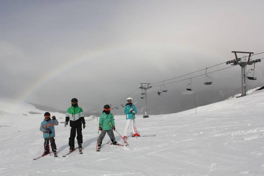 Corralco oferece pistas para todos os esquiadores