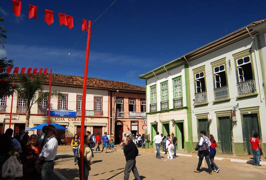Prédios históricos em São Luiz do Paraitinga dentro de São Paulo