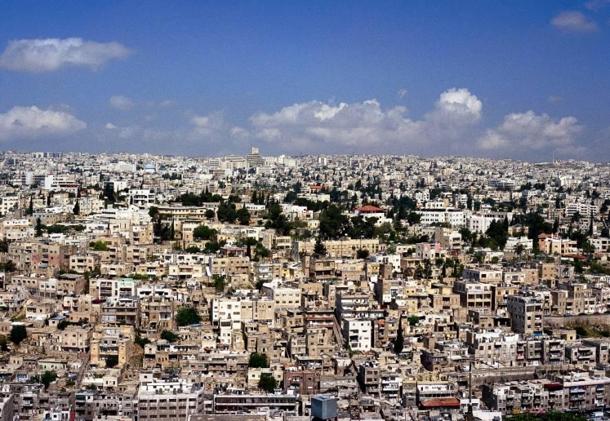 Vista geral de Amã, capital da Jordânia