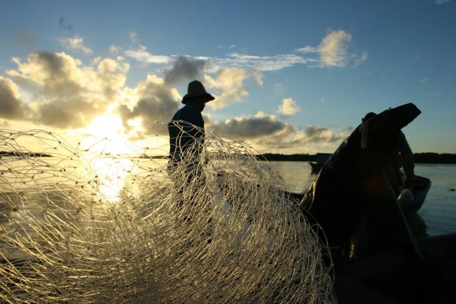 Pescadores no Parque Nacional dos Lençóis Maranhenses