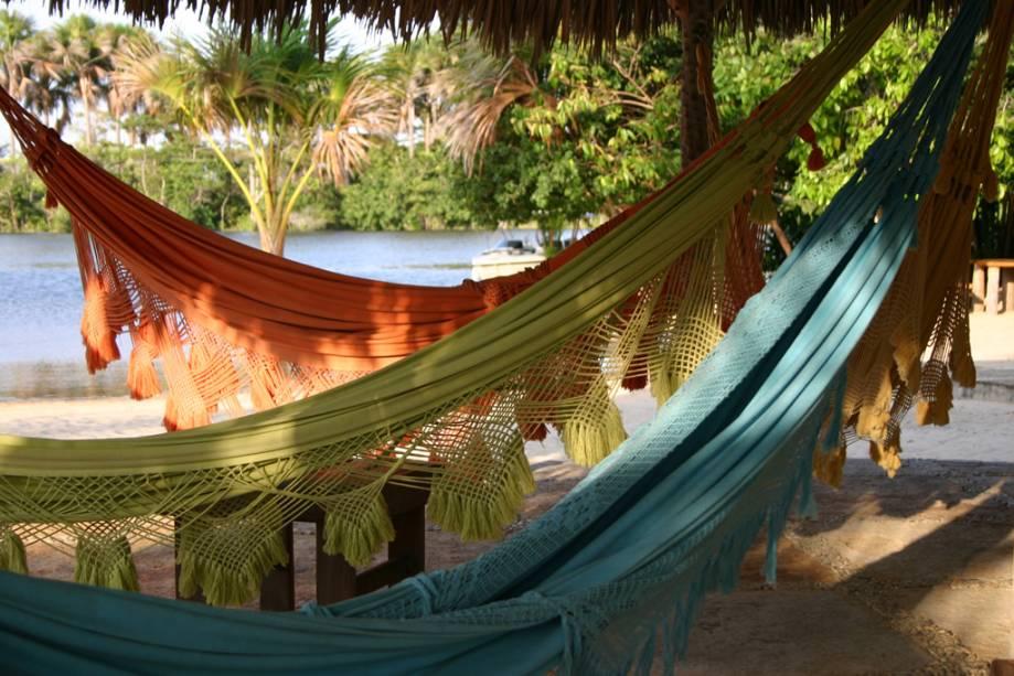 Quiosque do Resort Porto Preguiças às margens do Rio Preguiças