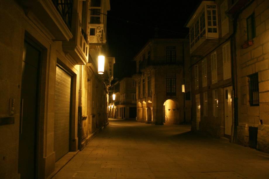 Via Sarmiento, no centro histórico de Pontevedra
