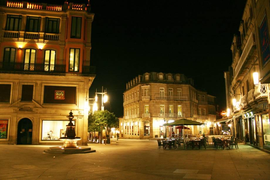 Plaza de Curros Enríquez no centro histórico de Pontevedra