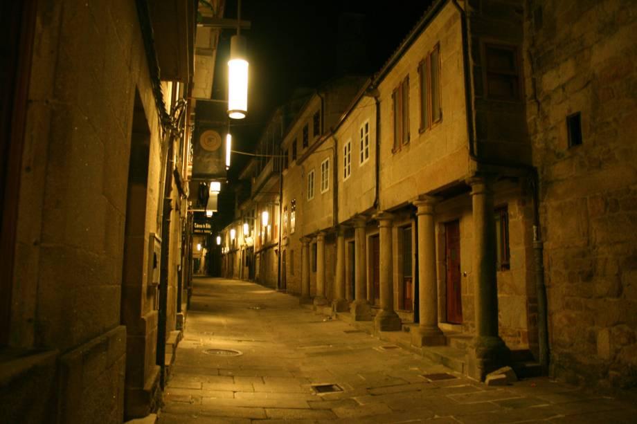Via Figueroa no centro histórico de Pontevedra