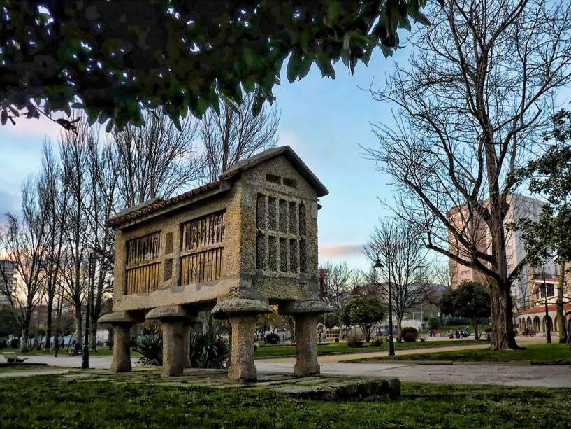 Hórreo Gallego no distrito de Campolongo de Pontevedra