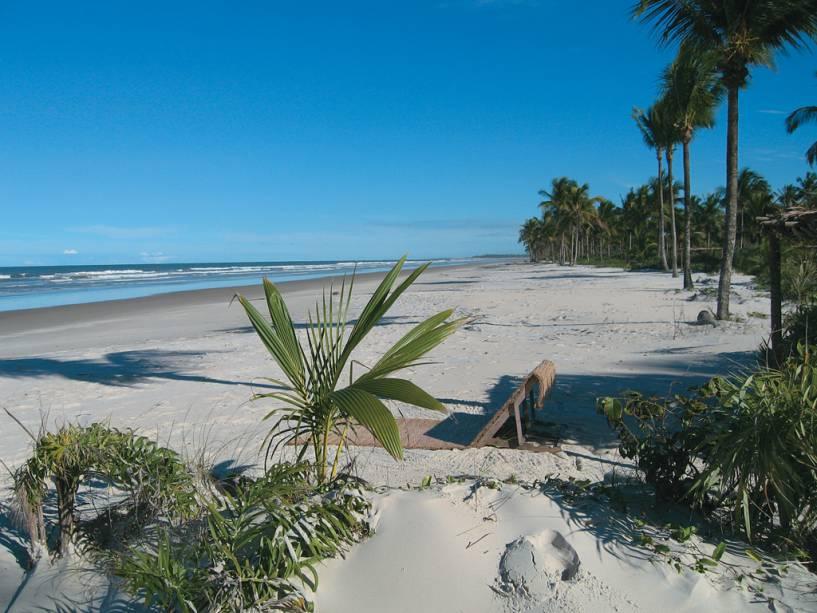 Praia onde está localizado o hotel Fazenda da Lagoa