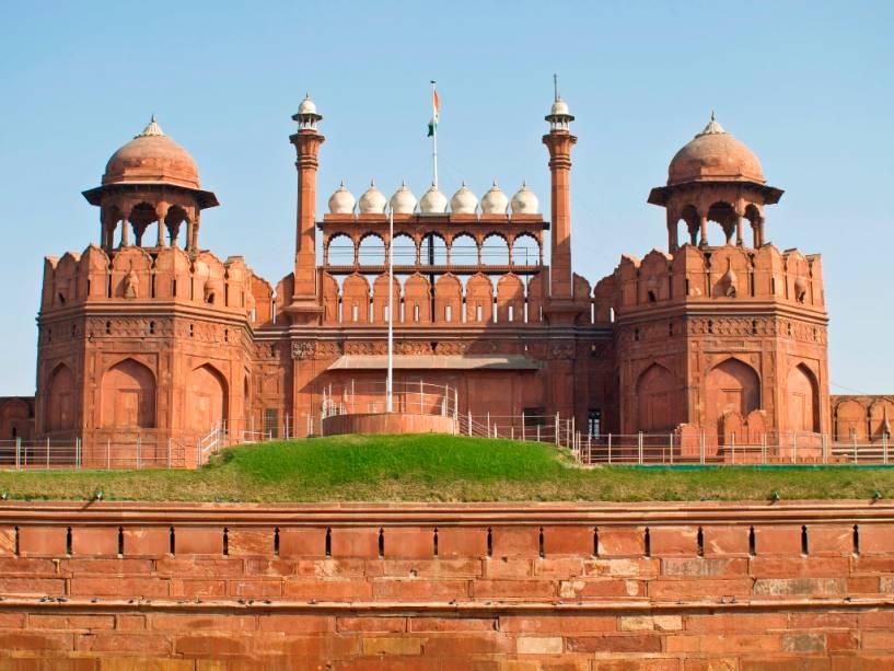O Forte Vermelho de Nova Delhi foi construído no século 17 pelo Imperador Mughal Shah Jahan e é um dos símbolos mais importantes da capital indiana