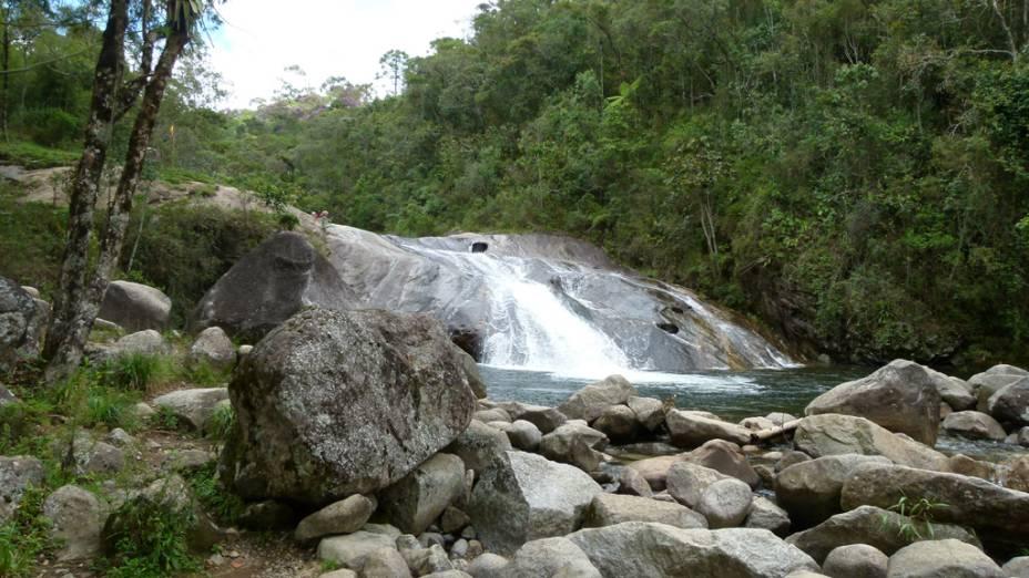 Cachoeira do Escorrega, na Maromba
