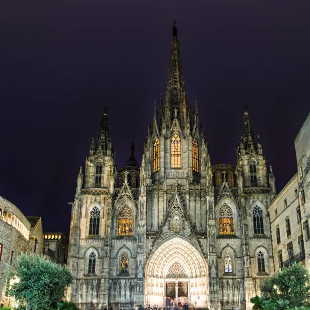 Sua Catedral de Barcelona no Bairro Gótico