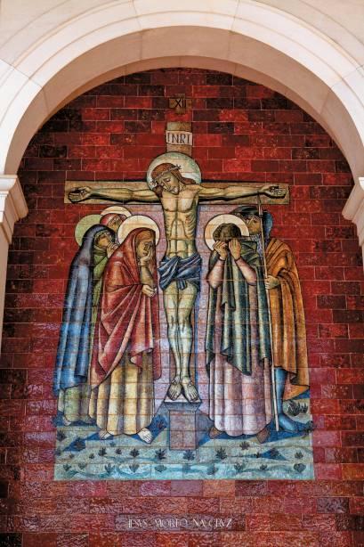 Cena da Paixão de Cristo em afresco de Fátima
