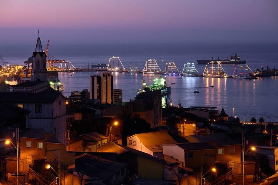 Junto com Viña del Mar, Valparaíso é o destino portuário mais visitado por residentes e turistas no Chile