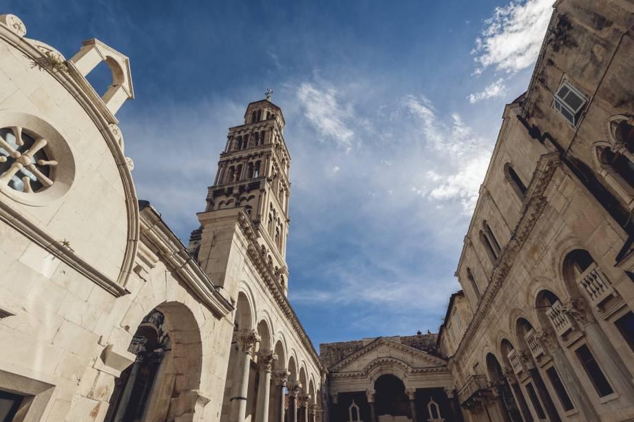 O interior do Palácio de Diocleciano, um dos edifícios mais bem preservados em Split, Croácia