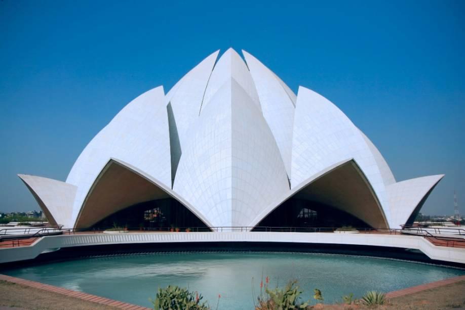 O Templo de Lótus na Casa de Oração Bahai em Nova Delhi é um lar ecumênico e oásis espiritual na vibrante capital indiana