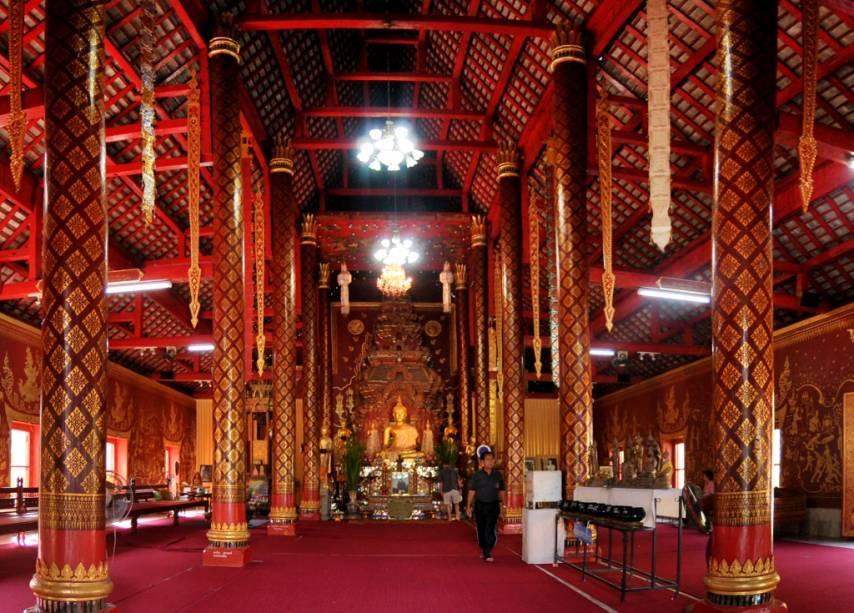 Templo Budista Wat Chiang Mun em Chiang Mai, norte da Tailândia