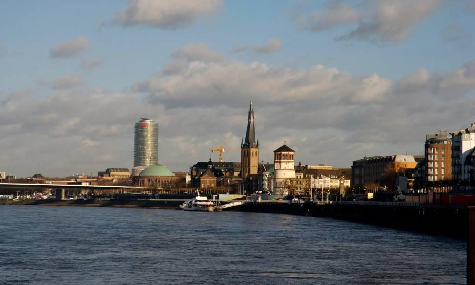 A atmosfera cosmopolita da cidade de Düsseldorf