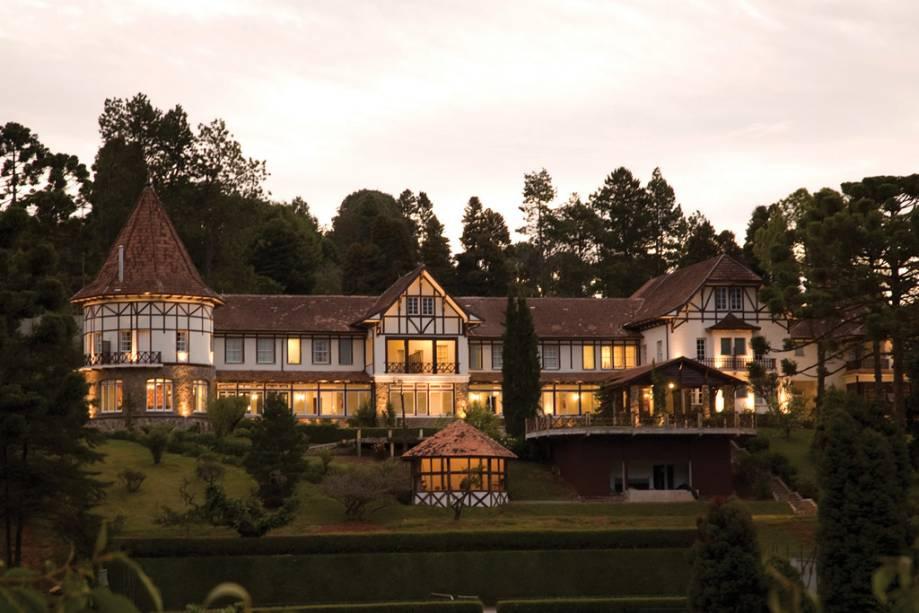 Hotel Vila Inglesa, um dos edifícios de inspiração alpina da cidade