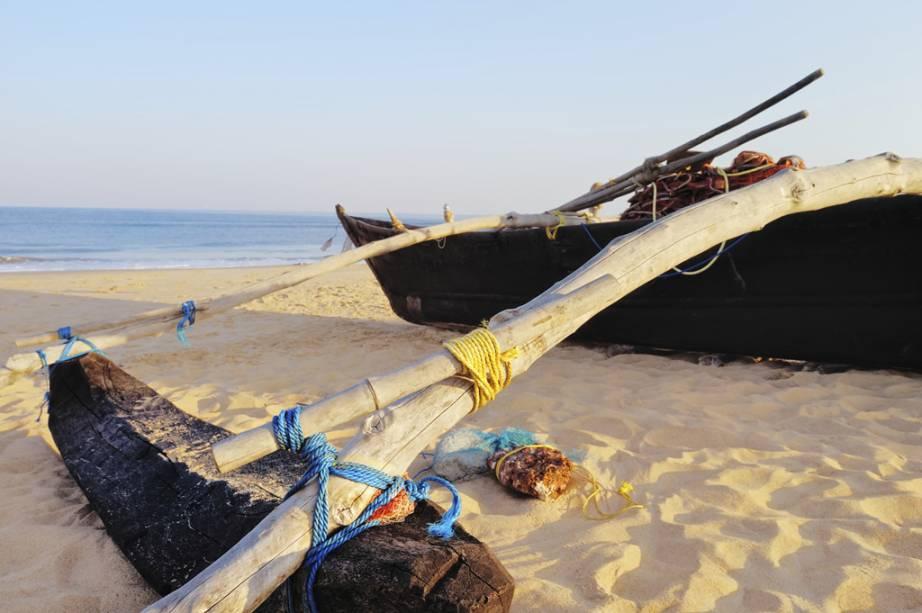Canoa de pesca em Palolem, Goa