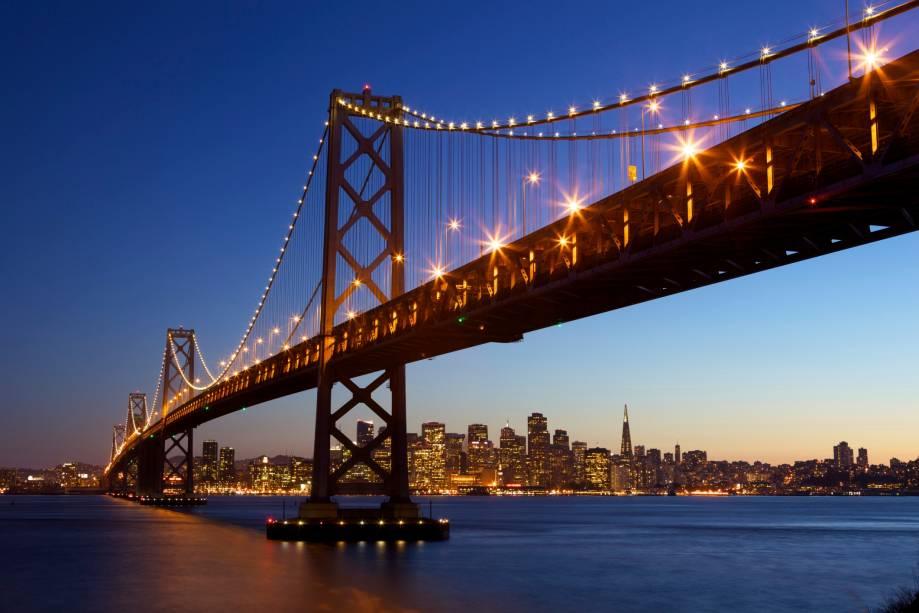 Bay Bridge em São Francisco, nos Estados Unidos