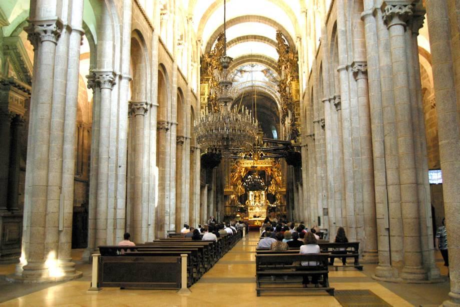Interior da Catedral de Santiago de Compostela
