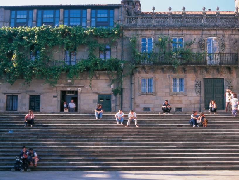 Casa de La Parra, não o centro histórico de Santiago de Compostela