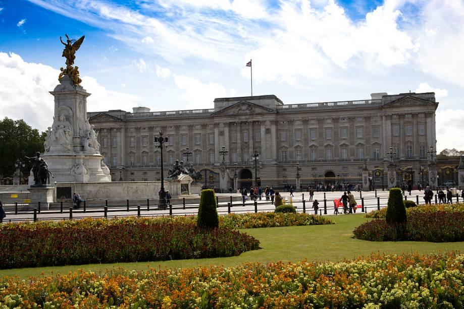 Palácio de Buckingham, a casa da Rainha em Londres