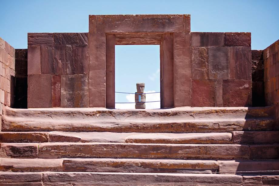 Tiwanaku, antigo sítio arqueológico, datado de 1.500 a.C.