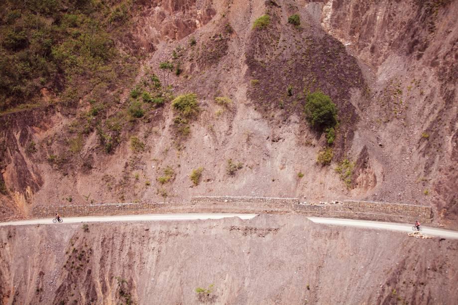 A estrada da morte em Coroico